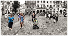 2017. Lviv. Ukraine (bobobahmat) Tags: color group girl baby kid child children man men woman town city street people life ukraine lviv