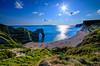 Durdle Door (George Plakides) Tags: durdledoor jurassiccoast southcoast devon fossils sea rocks rockformations dorset sun cliffs