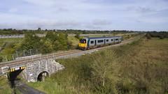 2807 on 1030 Galway-Limerick at Lurga 25-Sept-17 (metrovick) Tags: irishrail iarnrodeireann ie2807 railroad railway railwaygalway railcar lurga drone
