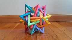 Ten Equatorially Diminished Triangular Dipyramids (Aaron P) (Zach Baruch) Tags: origami wireframe triangle dipyramid triangular aaron