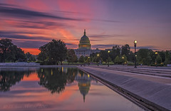 US Capitol LE @ Dawn (D. Scott McLeod) Tags: uscapitol capitalhill washington dc washingtondc districtofcolumbia reflection reflectingpool dawn colorfulsky longexposure dscottmcleod scottmcleod