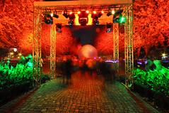 time gate (rafasmm) Tags: lodz łódź poland polska night nightonearth city lightmovefestival light lights nights outdoor streetart streetphoto streetlife street