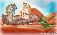 Magic Carpet Series  - Tiger Tiger Burning Bright (Poppys_Second_Life) Tags: 1001nights 2l arabiannights fantasy flyingcarpet magiccarpet myth onethousandandonenights picsbyⓟⓞⓟⓟⓨ popi popisadventuresin2l popikone popikonesadventuresin2l poppy sl secondlife virtualphotography desert tiger ألفليلةوليلة‎‎alflaylawalayla poetry tigertiger burningbright