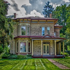 Waterloo Ontario ~ Canada ~ Italianate Architecture (Onasill ~ Bill Badzo ~~~~ OFF) Tags: waterloo ontario ont canada county italianate architecture style porch university college district classical onasill heritage historic 19th century models mansion house home beautiful decor bed breakfast and restaurant spa merner parliament senator mpp restored inn festival kitchener braden sky cloud canon sl1 rebel sigma 18250mm macro building outdoor french windows 1001nights