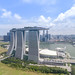 Aerial of Marina Bay Sands Hotel Singapore