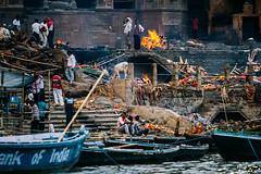 Manikarnika Ghat (Mathijs Buijs) Tags: manikarnika burning ghat ritual cremation pile fire indian hindu hinduism uttar pradesh river boats ganges ganga northern india asia canon eos 7d cow