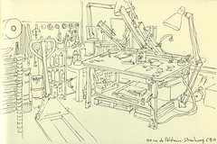 Atelier Serie-K - Strasbourg (lolo wagner) Tags: sketch croquis usk urbansketchers strasbourg alsace atelier