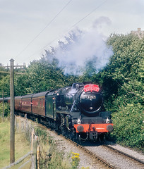 The Thames-Clyde Express On The KWVR. (Neil Harvey 156) Tags: steam steamloco steamengine steamrailway railway 44767 georgestephenson woodhouselane ingrow keighleyworthvalleyrailway kwvr worthvalleyrailway black5 lms stanier
