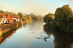 MESSING ABOUT ON THE RIVER (midlander1231) Tags: bewdley riversevern severnvalley rowing rowers pirates earlymorning dawn river water sports autumn nature