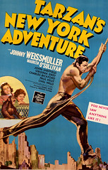 Tarzan's New York Adventure (1942, USA) - 01 (kocojim) Tags: publishing illustrated kocojim johnnysheffield poster johnnyweissmuller maureenosullivan film advertising illustration motionpicture movieposter movie