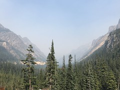 Photos from the car traveling to Winthrop from LaConner (TerriJane01) Tags: smokeysky sky haze pacnw fire