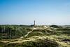 Lighthouse // Amrum (//Sebastian) Tags: blue sky green hills island amrum heide heath path beach lonely lighthouse north sea calm friesian friesische inseln