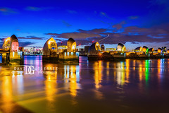 Thames Barrier, London, UK (davidgutierrez.co.uk) Tags: london photography davidgutierrezphotography city art architecture nikond810 nikon urban travel color night blue uk londonphotographer photographer england unitedkingdom europe beautiful cityscape davidgutierrez britain greatbritain d810 street arts summer skyline buildings nikon2485mmf3545gedvrafsnikkor nikon2485mm iconic landmark people property 伦敦 londyn ロンドン 런던 лондон londres londra capital structure building river riverthames lowtide colors colourful colours colour streets attraction thames thamesriver eastlondon silvertown industrialiseddistrict bluehour twilight dusk lights light reflection longexposure thamesbarrier floodbarrier newcharlton