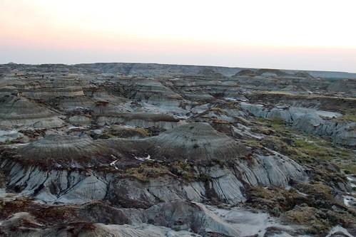 Badlands overlook in sunset #4