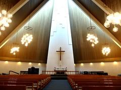 Interior - Vesturkirkjan (Jaedde & Sis) Tags: føroyar altar interior light challengeyouwinner cyunanimous flickrchallengewinner flickrchallengegroup storybookwinner