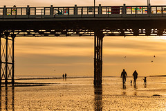 Off into the Sunset (S l a w e k) Tags: worthing pier beach coast seaside sunset landmark sea englishchannel people silhouettes sussex england uk travel landscape english british lowtide