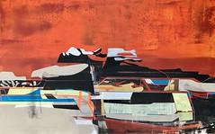Jim Harris: Ohne Titel. (Jim Harris: Artist.) Tags: art arte painting geometric lartabstrait landscape landskap abstrakt abstractart arts architecture sky himmel space cosmos avantgarde zeitgenössische konst künstler kunst japan technology technik acrylic canvas structure futuristic