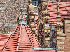 Upper West Side-3 (so Dutch) (albyn.davis) Tags: nyc newyorkcity architecture detail spires rooftop tiles orange color brown facade church city urban