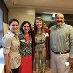 Faculty and alumni pose at the Professional Networking Symposium