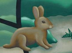 Rabbit in art (earthdog) Tags: 2017 nikon nikoncoolpixs7000 s7000 coolpix art mural publicart animal sanjose painting rabbit