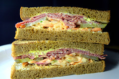 New York Style Deli Salt Beef on Soft Chargrilled Rye Bloomer (Tony Worrall) Tags: add tag ©2017tonyworrall images photos photograff things uk england food foodie grub eat eaten taste tasty cook cooked iatethis foodporn foodpictures picturesoffood dish dishes menu plate plated made ingrediants nice flavour foodophile x yummy make tasted meal nutritional freshtaste foodstuff cuisine nourishment nutriments provisions ration refreshment store sustenance fare foodstuffs meals snacks bites chow cookery diet eatable fodder new york style deli salt beef soft chargrilled rye bloomer sandwich butty