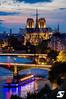 Good evening Paris (A.G. Photographe) Tags: anto antoxiii xiii ag agphotographe paris parisien parisian france french français europe capitale d850 nikon 70200vrii nikkor sunset heurebleue cathédralenotredamedeparis seine bateauxmouches ladéfense arcdetriomphe