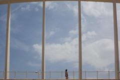 The Bridge, Valencia (Geraint Rowland Photography) Tags: bridge streetphotogrphy valencia openspace magnitude scale people art modernart bridges bridgesofspain spanisharchitecture lines linesinphotography composition vast emptyspace bluesy sky geraintrowlandphotography travelphotography