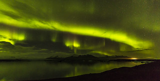 Aurora over the Iceland