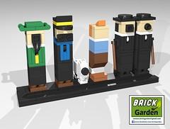 BGD 5003 R0 Tintin minimaliste POV 01 (BRICK GARDEN) Tags: lego bgd brickgarden afol moc tintin herge minimalism