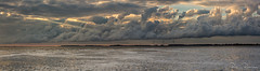 Panorama Clooooouds (BraCom (Bram)) Tags: bracom panorama wolk cloud lake meer sunray zonnestraal water sky windmill windturbines windmolens foam schuim silhouttes silhoutten evening avond bruinisse schouwenduivland grevelingenmeer zeeland nederland bramvanbroekhoven goereeoverflakkee nl