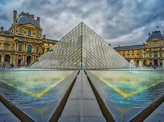 Reflections On The Louvre (Stuck in Customs) Tags: france paris stuckincustomscom treyratcliff 80stays hasselblad x1d stuckincustoms travel blog travelblog photography photoblog photographyblog hdr high dynamic range imaging digital processing software tutorial hdrtutorial trey ratcliff world europe western republic french républiquefrançaise state capital seine northern city historic urban metropolitan îledefrance island district îledelacité iledelacite heart medieval passion crown louvre worship architecture rayonnant gothic wideangle altar candles gold ceiling geometric arch