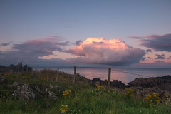 One Big Cloud (jillyspoon) Tags: cloud isleofwhithorn reflection reflectedlight sea coast scotland wigtownshire theisleofwhithorn fence