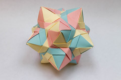 Sky Star Kusudama (30 units, dodecahedron) (Brian Ritchie) Tags: kusudama mariasinayskaya skystar modular origami