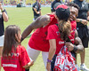2017_T4T_Atlanta Falcons Training Camp30 (tapsadmin) Tags: teams4taps atlanta falcons football trainingcamp 2017 august taps tragedyassistanceprogramsforsurvivors military nfl atlantafalconsphotographer outdoor cropped player candid girl kid child hug redshirt ricardoallen