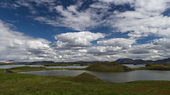 Pseudo craters at Myvatn lake, Iceland (unvirtual) Tags: dropbox holidays 2017 myvatn urlaub crater island sky export lake iceland gallery clouds