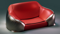 CouchD27 (Ke7dbx) Tags: industrialdesign industrial producdesign productdesign design designer art artisti arts red leather metal furniture couch sofa modo 3d cg cgi computergraphics graphics photoreal