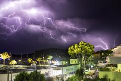 Lightning in the skies above Port Andratx (Chris Lishman) Tags: chrislishman lishman chrislishmanphotography lightning weather andratx portandratx storm heatwave skies stormy lighningstrikes clubdevela marina yachtclub