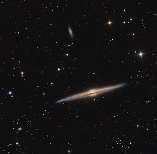 NGC 4565 The Needle Galaxy +4562 and a few fuzzies Contains: NGC 4565, IC 3543, NGC 4562