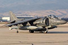 United States Marine Corps McDonnell Douglas AV-8B Harrier (cjmoeser) Tags: boi kboi boise idaho gowen field pentax k3 aviation photography usmc united states marine corps mcdonnell douglas av8b harrier jump jet vma214 black sheep 165585