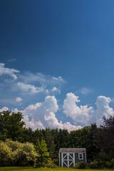 Sky (Dan Haug) Tags: sky cumulus clouds polarizer circular yard shed classicchrome xt2 fujifilm xf1655 xf1655mmf28rlmwr