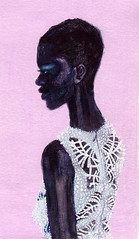 sketchbook (deannastaffo) Tags: sketchbook fashionillustration alexandermcqueen figureillustration