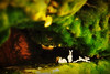 la grotte des albinos (★ ♥ Pounkie ☠ †) Tags: lagrottedesalbinos lapins vintagetoys gotte caverne toys jouets rabbits lapin jouet vintage toy rabbit bunny