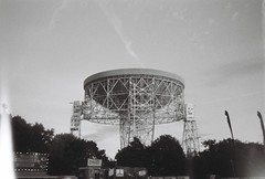 (Delay Tactics) Tags: film bluedot festival jodrell bank radio telescope wow seti sky chicken coffee pizza food flags trees black white bw straight out camera sooc light leaks lovell explore 2017 dish