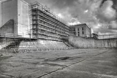Alcatraz - Recreation Yard (Laurie4593) Tags: sanfrancisco alcatraz california hdr blackwhite yard recreation