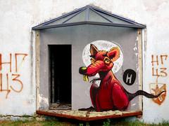 Fat Heat (Walls of Belgrade) Tags: serbia streetart wall abandonedplaces road spraypaint graffiti mural fatheat