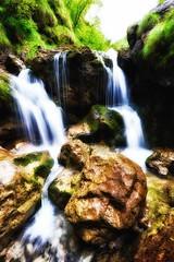 Val Vertova (Riboli Alessandro) Tags: val vertova cascata nik color efex nikon d700 nikkor 1424 natura flora acqua water long time