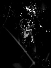 In the dark (Linayum) Tags: isidawndancer monochrome monster monsterhigh mattel mh doll dolls muñeca muñecas toys toy juguetes juguete linayum