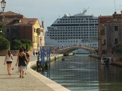 Venice with cruise ship - Italy (ashabot) Tags: venice veniceitaly europe cruiseship unesco worldheritagesite street scene cruise ship passage unescoworldheritagesite streetscene