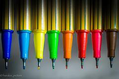 macro polychrome fluo (harakis picture) Tags: colors macro fluo couleurs pen feutre stylo