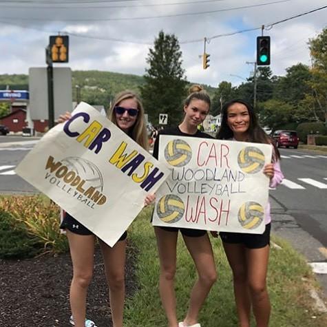 Busy Saturday for Woodland, @wrhshawksvball had their Car Wash today 🚗 photo credit: @wrhshawksvball
